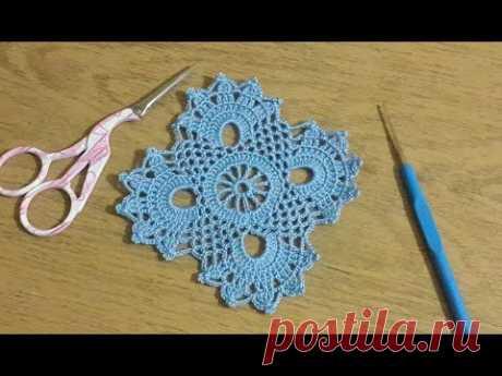 Tığ işi Örgü Kare Motif Yapımı, Crochet