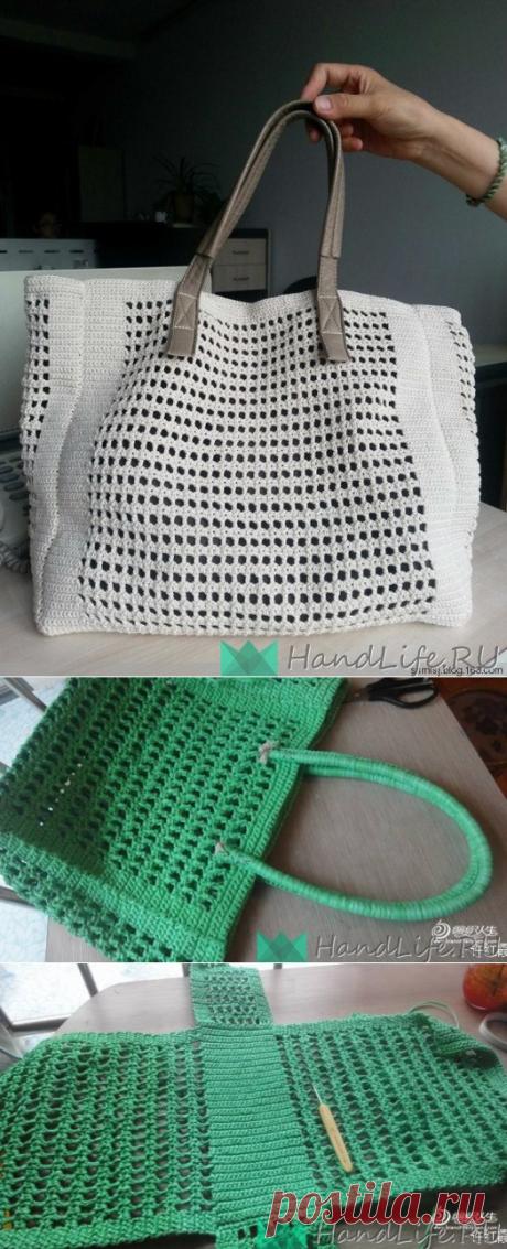 Летняя сумка крючком / Вязание крючком