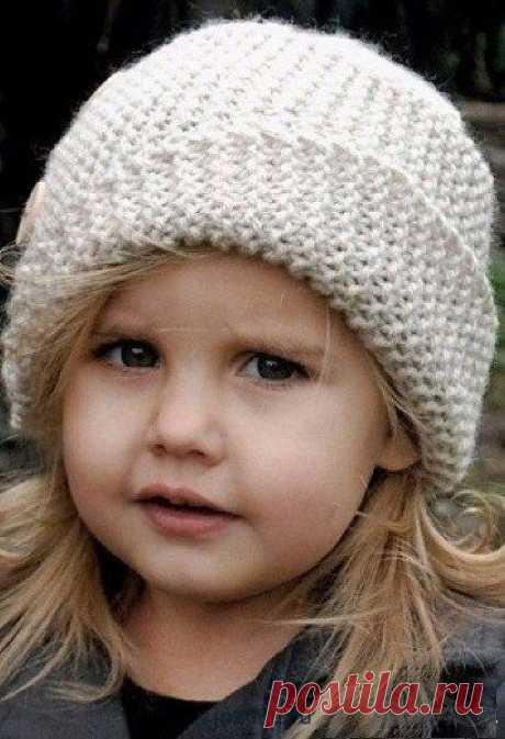 Вязание шляпки для девочки спицами возраст 5-8 лет | Вязана.ru