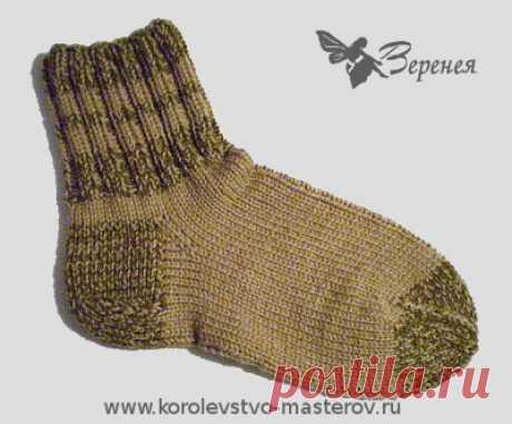 """Носки мужские вязаные """"Комбат"""" - подарок мужчине на 23 февраля. Носки спицами."""