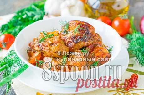 Чахохбили из мяса курицы в мультиварке по-грузински, рецепт с фото