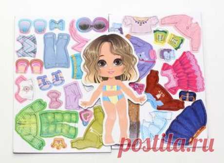 Игра магнитная «Одевашки. Модная девчонка. Ксюша» (европодвес, 2х8шт)   Подбирайте красивые наряды для куклы Ксюши и наряжайте её магнитной одеждой с игрой «Одевашки...