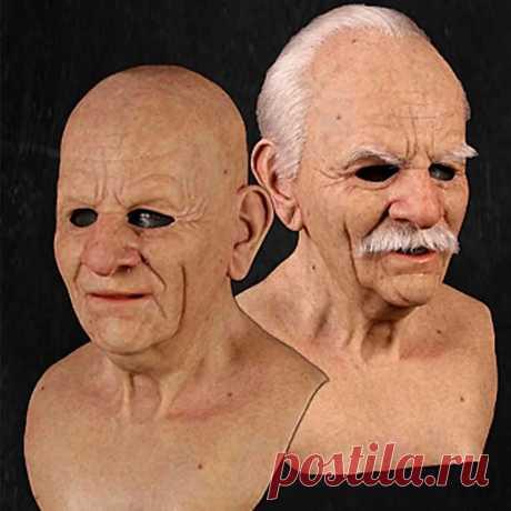 Halloween face wig old man mask horror headgear Sale - Banggood.com-arrival notice-arrival notice