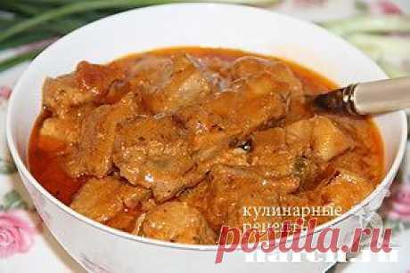 Мясо в пикантном соусе по-краковски.
