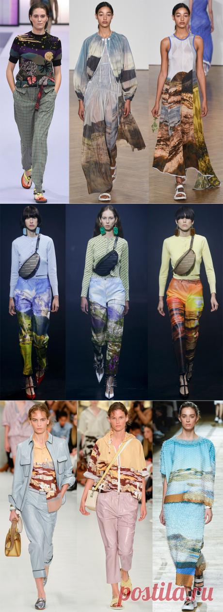 Модная тенденция: одежда с пейзажными принтами