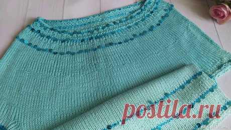 Укороченный топ спицами для девочки ❤️   Вязание спицами для детей