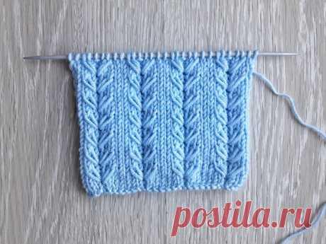 Нежные колоски из вытянутых петель для вязания шапок, варежек, свитеров | Вязание спицами CozyHands | Яндекс Дзен