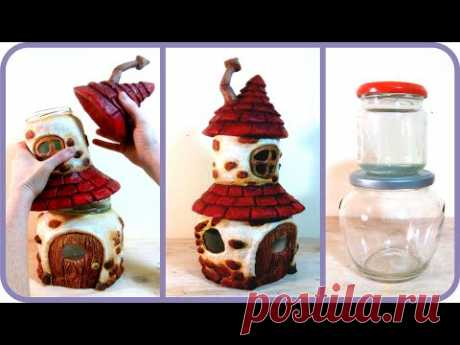 ❣DIY Fairy House with Attic using Two Jars❣