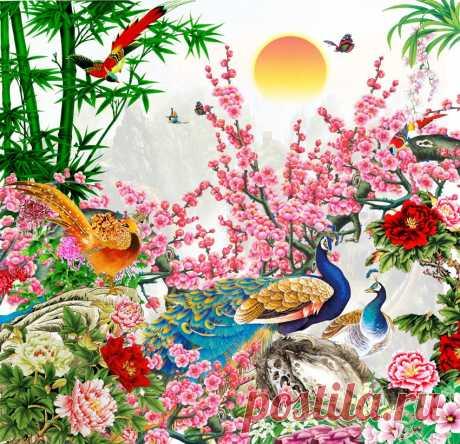 Красочные китайские пейзажи...