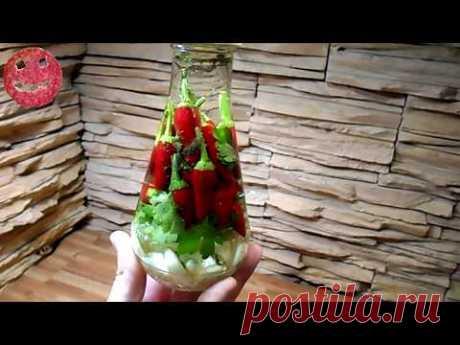 Острый перец на зиму. Очень вкусно и быстро. /Hot pepper for the winter/
