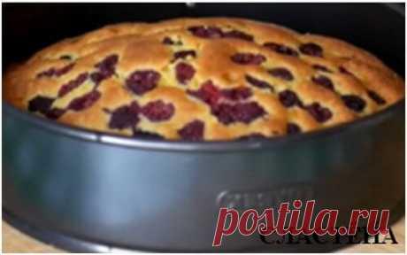 Быстрый пирог с малиной. Все смешал и готово | СЛАСТЁНА | Яндекс Дзен