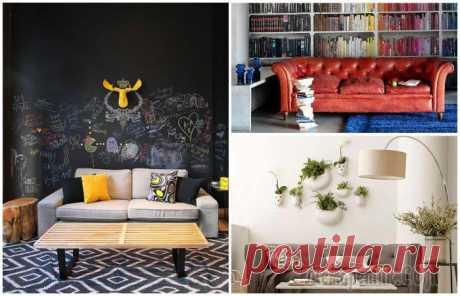 15 идей стильного оформления стены за диваном Традиционное оформление стены за диваном ограничивается одной картиной, висящей над ним. Такое решение не является плохим, но вот надоевшим и скучным - да.Но, немного подключив фантазию, можно создат...