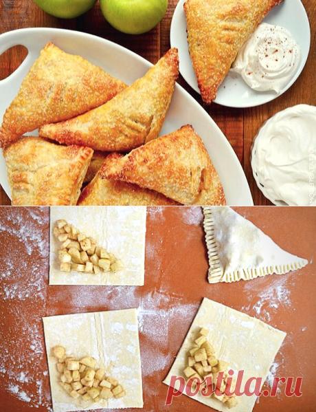 Слоеные конвертики с яблоками - рецепт для дочки | ChocoYamma | Яндекс Дзен  Я - давний поклонник домашней выпечки я яблоками - вы уже видели пару десятков рецептов яблочных пирогов на моем канале. Но есть что-то особенное в классических рецептах, когда мы не используем сложных техник и редких пряностей, а всего лишь смешиваем кусочки фруктов с сахаром и корицей и прячем их в конвертик из теста.