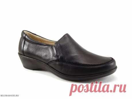 Полуботинки женские Росвест 623, черный Удобные женские туфли на маленьком устойчивом каблучке