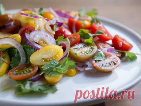מתכון: סלט עגבניות שרי - וואלה! אוכל