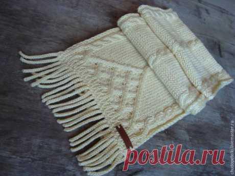 Как связать бахрому для шарфа - Ярмарка Мастеров - ручная работа, handmade