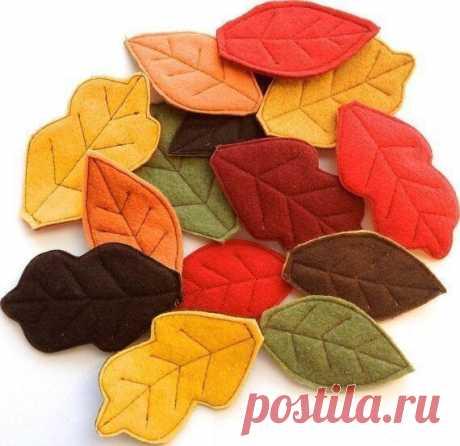 Листья из фетра