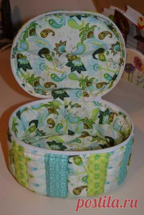 Коробочка-шкатулка из ткани