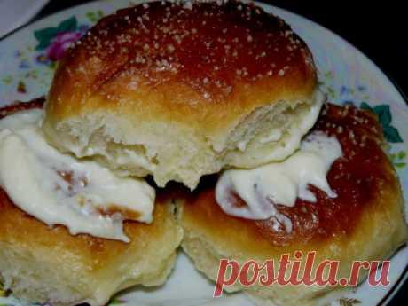 Булочки в сливках а-ля BUCHTELN из дрожжевого теста - Сладкие пироги и кексы