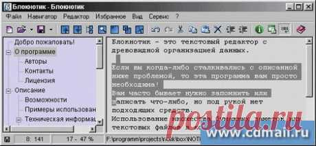 Блокнотик скачать бесплатно (русская версия). Лет 15 применяю для хранения ников и паролей, нужных ссылок! Установить на D и всегда он при вас. В строчке Ссылки-закладки.nib хранится база ваших паролей!