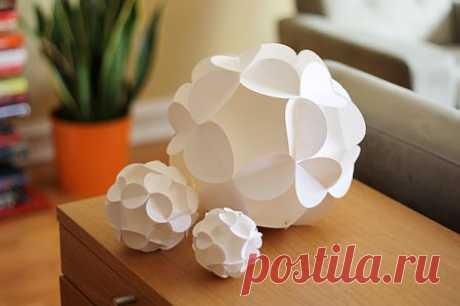Оригами Кусудама. Шар Из Цветов