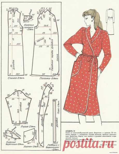 10 выкроек халатов и домашних платьев   Рукоделие