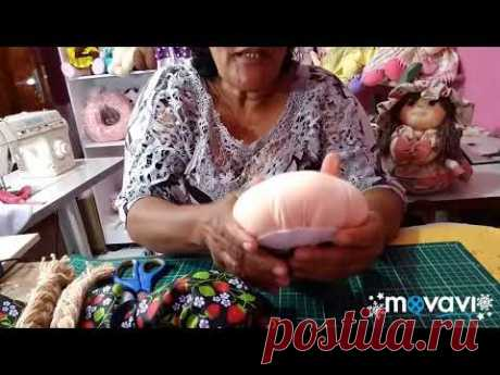 COMO FAZER  BONECA PORTA PANO DE PRATO - SIMPLES E FÁCIL