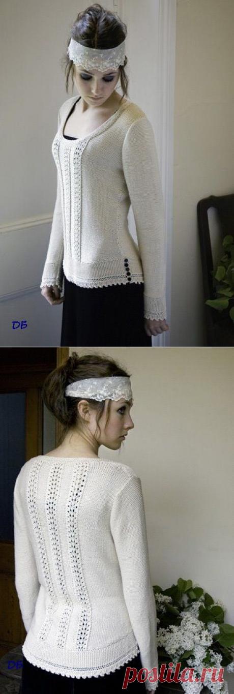 Пуловер с ажурными вставками (Heartfelt).