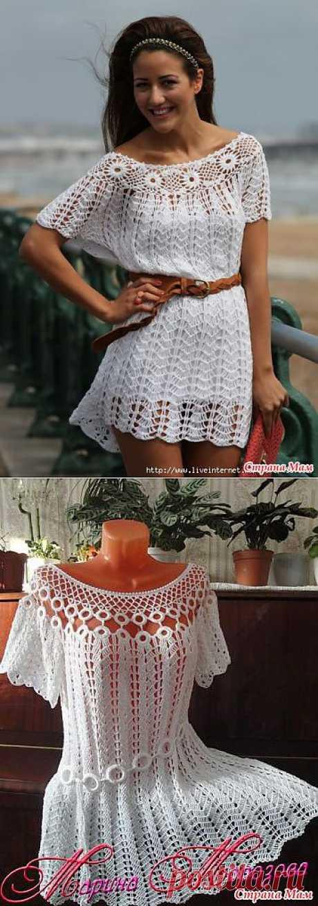 >Платье - туника крючком.