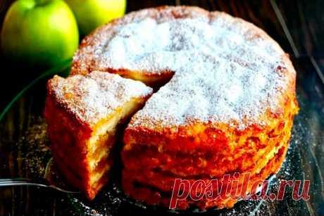 Знаменитый яблочный пирог 3 стакана можно готовить хоть каждый день Читать далее...
