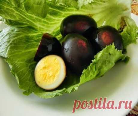 Яйца в соевом соусе - Соя Тамаго - Азиатская кухня (китайкая, корейская, японская)