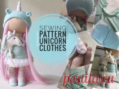 Sewing Pattern Unicorn Clothes, Tilda Doll Tutorial, PDF Doll Cloth, Unicorn Rag Doll, Interior Art Doll Handmade, Doll Clothing by Yulia K Cloth Sewing Pattern for Interior Doll by master Yula K.  Pattern uncludes Unicorn Doll Clothes sewing tutorial.  Pattern is for 30 cm (11.9 inch) dolls by master Yulia K.  Pattern is made in PDF format: 10 pages, 36 photos + sewing pattern A4 size. Languages: English  You can see