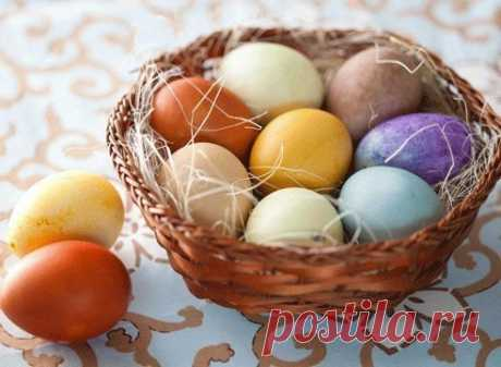 We paint Easter eggs without chemistry! Natural dyes