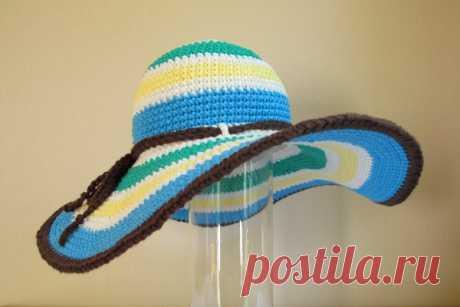 Шляпа крючком: простая схема. Как связать шляпу крючком? | LS