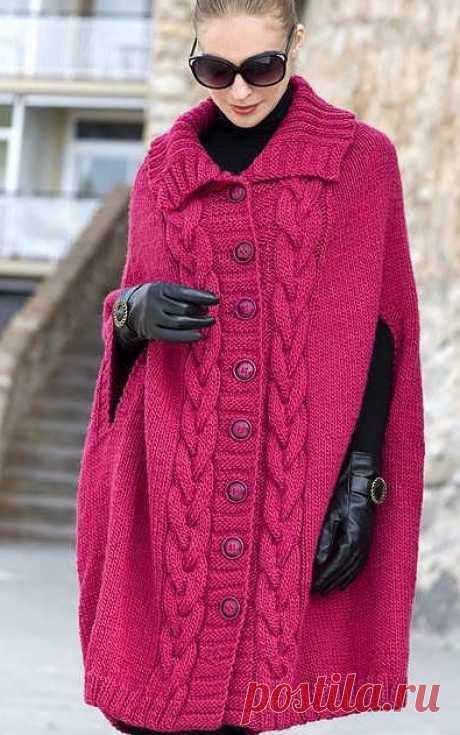 Волшебный мир рукоделия: Пальто-пончо