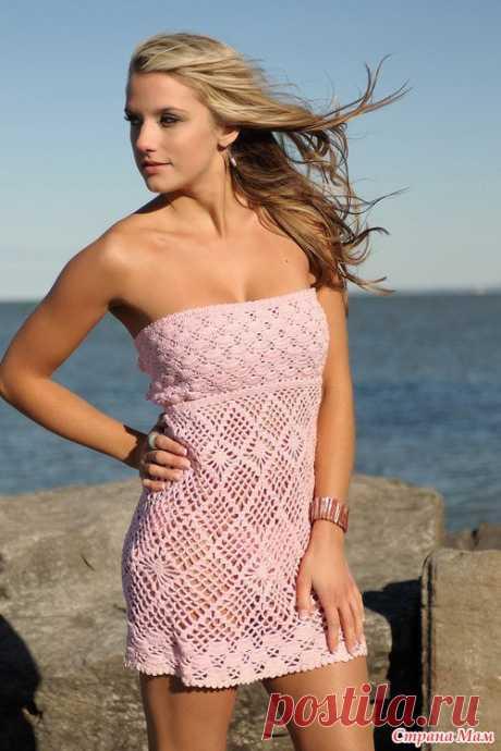 Розовое платье на лето. - Все в ажуре... (вязание крючком) - Страна Мам