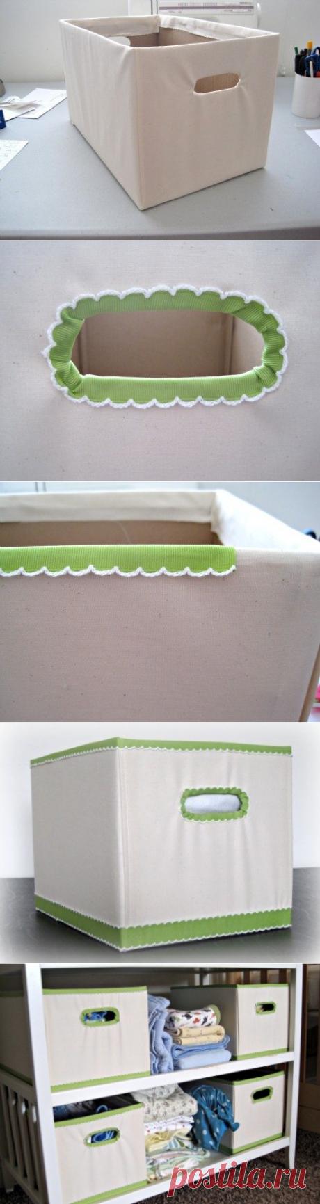 Ящики для домашнего уюта из картонной коробки. Мастер-класс.