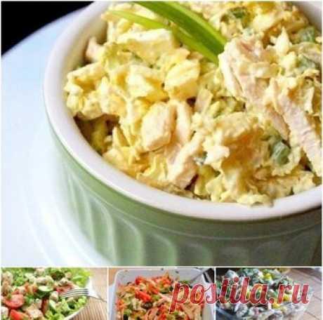 6 лучших салатов из курицы
