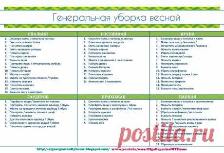 OlgaOrganizeDIYHome: ГЕНЕРАЛЬНАЯ УБОРКА ВЕСНОЙ / скачать шаблоны
