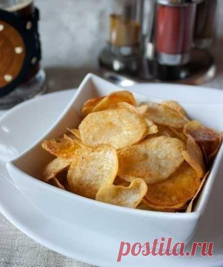 Как приготовить домашние картофельные чипсы - рецепт, ингридиенты и фотографии