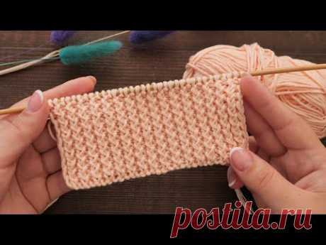 Узор «Хлебный колос» спицами 🌾 «Bread ear» Knitting pattern