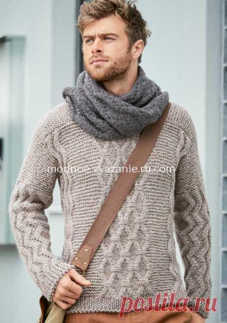 Подборка вязаных пуловеров спицами для мужчин - Klubok.ru.com