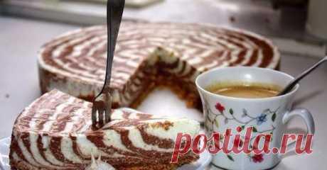 Торт из творога (не требует выпекания)