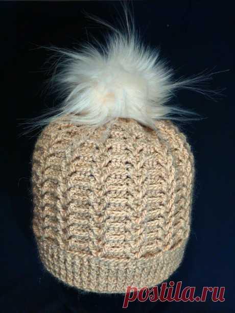 Шапка женская, крючком. Часть 1.  a cap knitted crochet. Part 1.