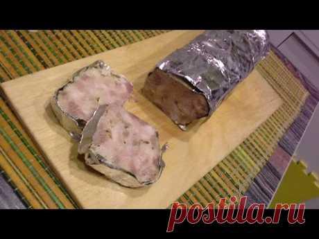 Домашняя колбаса рубленая без кишок