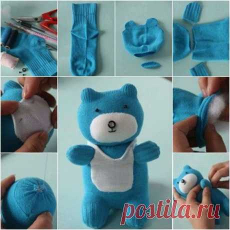 Мягкие игрушки из носков своими руками 11 мастер классов.