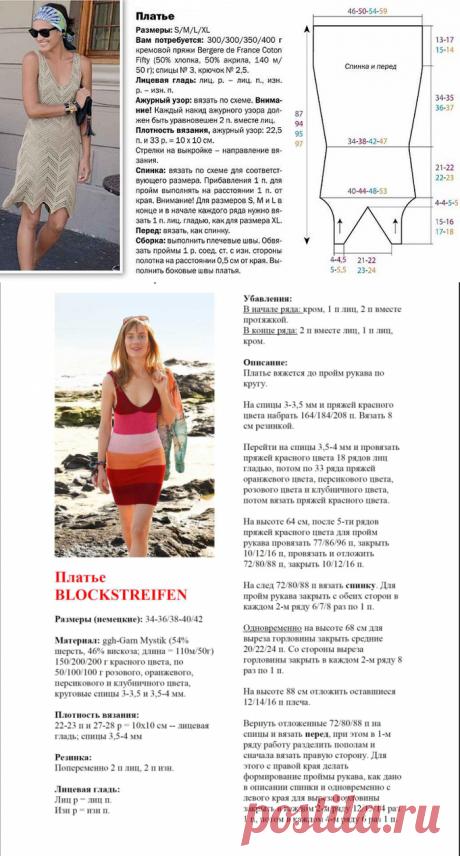 Летние стильные платья спицами | Модное вязание | Яндекс Дзен