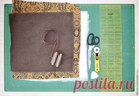 We sew a road cosmetics bag