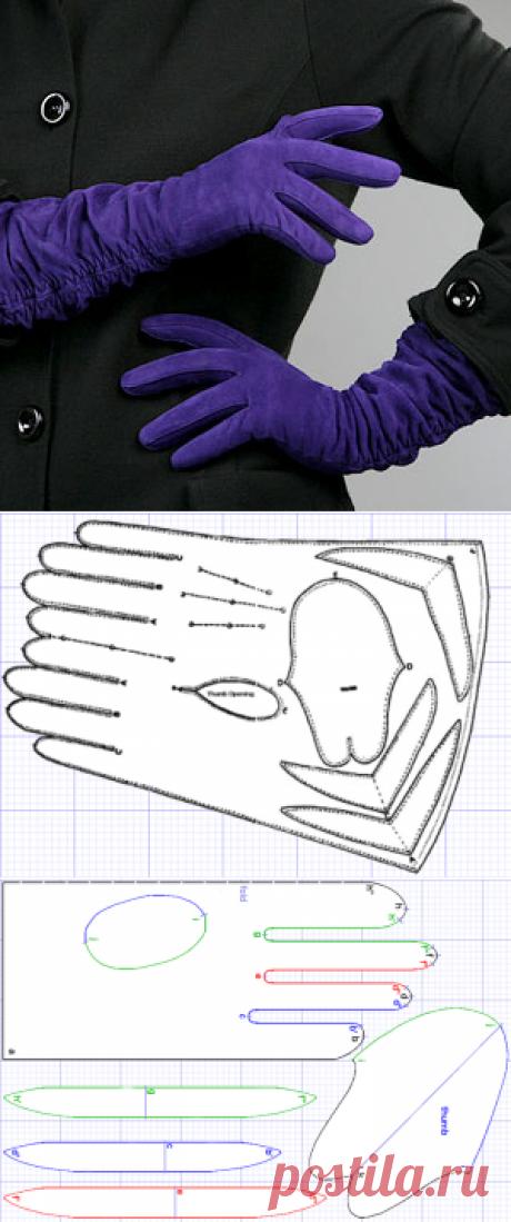 Выкройка перчаток. Дайте две!