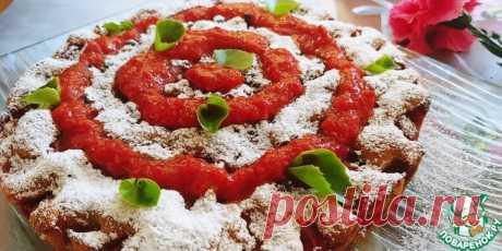 Клубничный пирог Кулинарный рецепт(***)